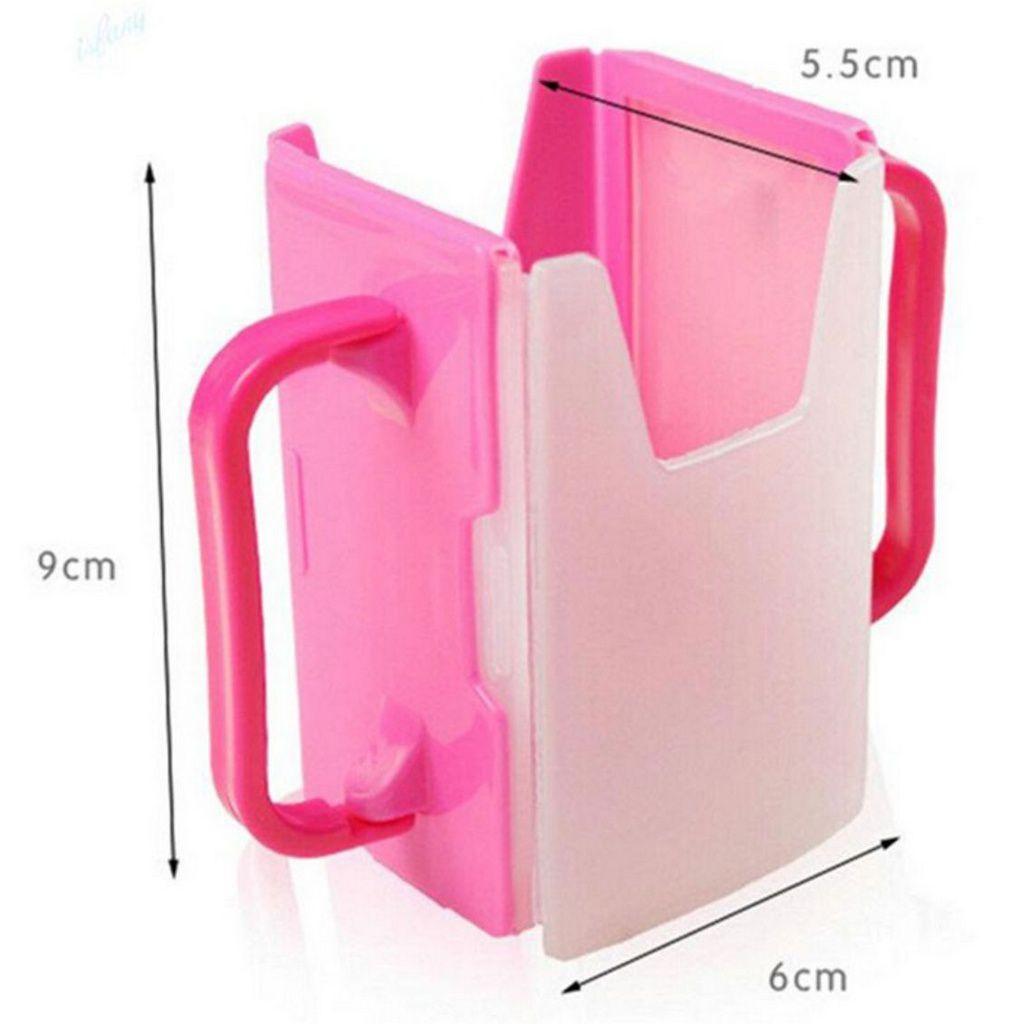 Porta suco de caixinha rosa