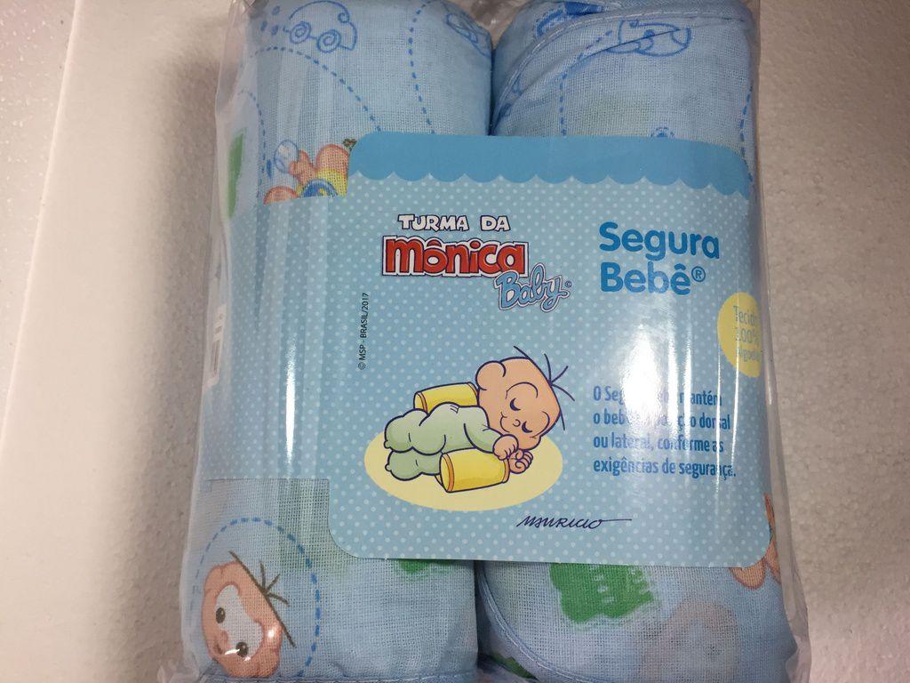 Posicionador antiqueda do bebê Turma da mônica Azul