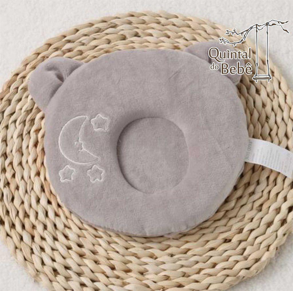 Travesseiro para moleira do bebê Cinza