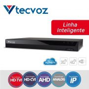 Gravador TECVOZ TV-E5004 TOP DVR 4+2 canais com analíticos.