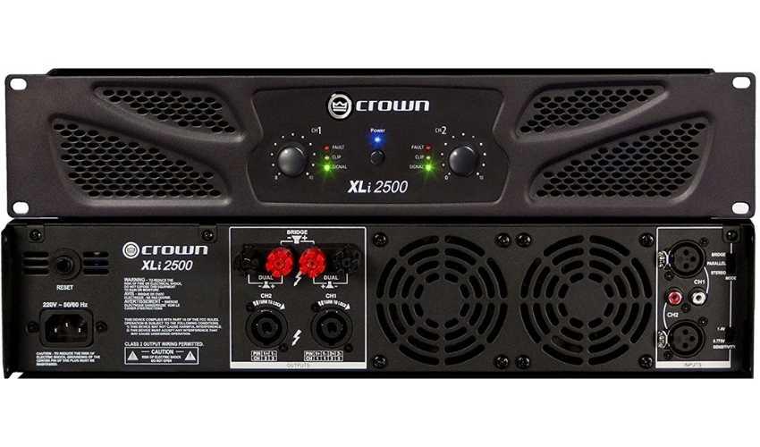 Amplificador de Potência 127V XLi 2500 - Crown