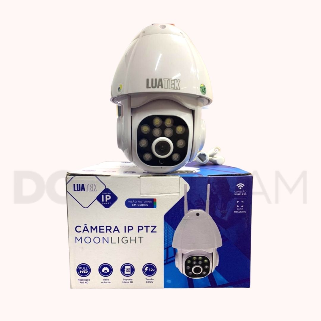 Câmera IP Onvif Speed Dome Wi-Fi externa Luatek