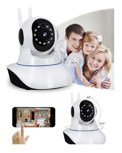 Câmera IP Wifi Com 3 Antenas HD P2P 360 App V380