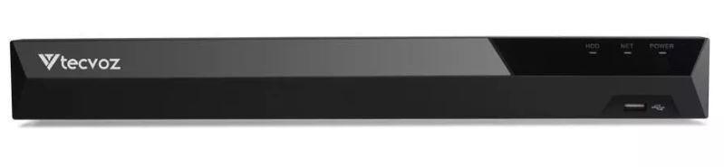Gravador TECVOZ TV-E5004 TOP DVR 4+2 canais com analíticos.