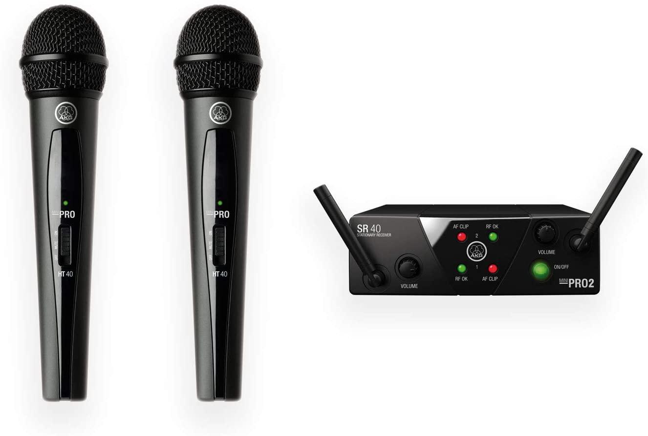 Microfone AKG WMS40 MINI Dual Vocal Set US25A/C