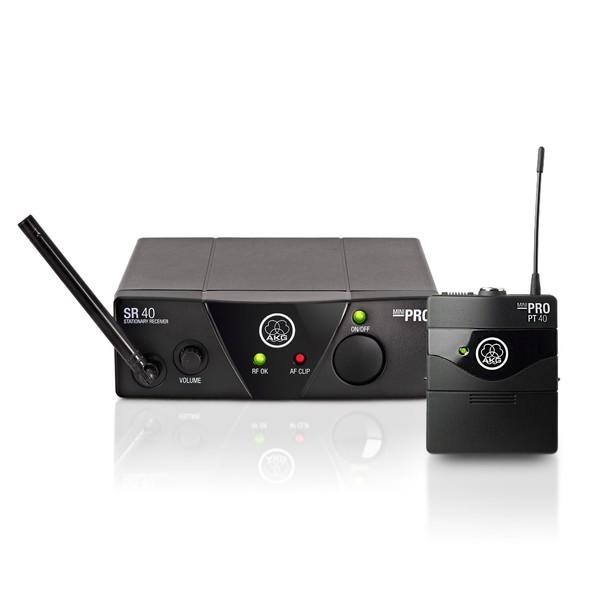 Sistema sem fio AKG WMS40PRO MINI UHF Set Instrumentos Mostruário