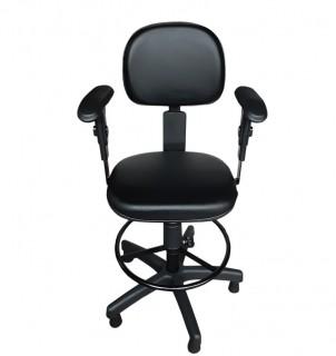 Cadeira Caixa Ergonômica Secretária com Braço - NR-17