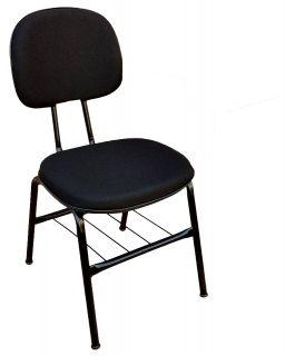 Cadeira de Escritório Secretária Pés Palito Com Porta Livros