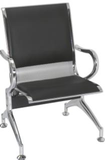 Cadeira de Espera Cromada  - B01 - Estofada