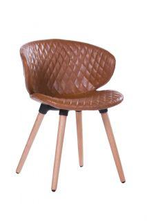 Cadeira Design em Courino com Costura Metalassê