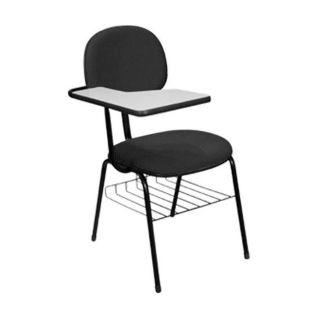 Cadeira Fixa Secretária com Prancheta em Tecido