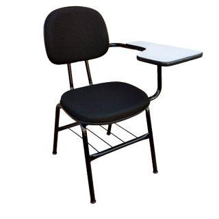 Cadeira Fixa Secretária Universitária Tradicional com Porta Livros