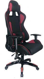 Cadeira Gamer com Reclinação de 180° - Preto / Vinho