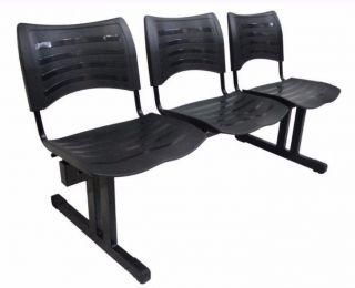 Cadeira Plastica de Espera 3 Lugares -Izo