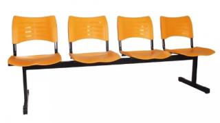 Cadeira Plastica de Espera 4 Lugares -Izo