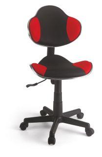 Cadeira Secretária em tela Vermelha