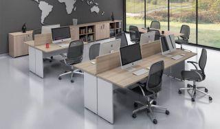 Plataforma Simples - Estação de Trabalho com 4 Lugares - Prima