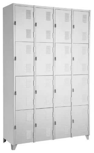 Armário Roupeiro de Aço - 16 Portas Pequenas  - Tinay Móveis Ltda
