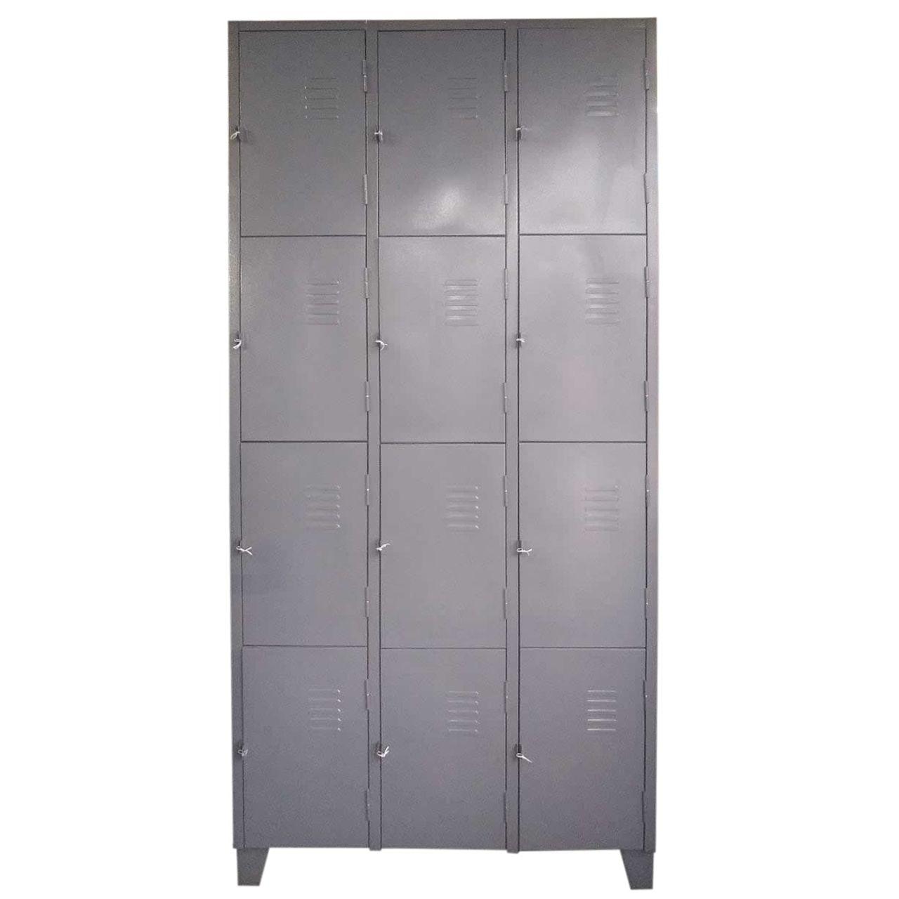 Armário Roupeiro de Aço - 12 Portas Pequenas  - Tinay Móveis Ltda