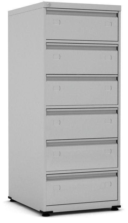 Arquivo de Aço para Fichas 6x9 com 6 Gavetas - Pandin  - Tinay Móveis Ltda