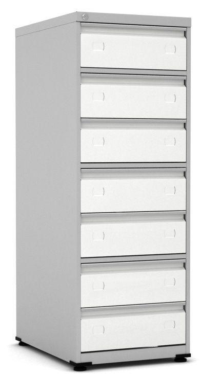 Arquivo de Aço para Fichas 5x8  com 7 Gavetas - Pandin  - Tinay Móveis Ltda