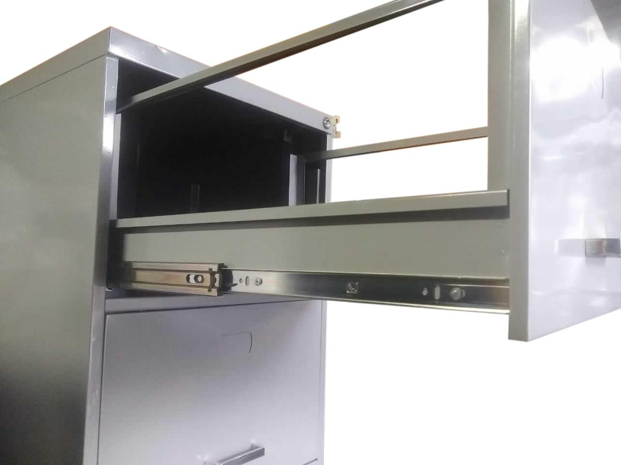 Arquivo de Aço Para Pasta Suspensa de 4 Gavetas - Corrediça Reforçada 67cm