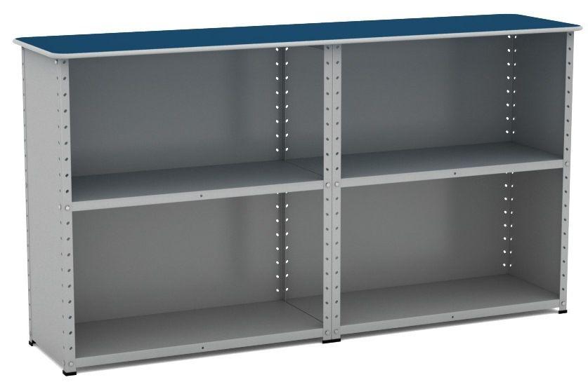Balcão de Aço Duplo Fechado - Pandin  - Tinay Móveis Ltda