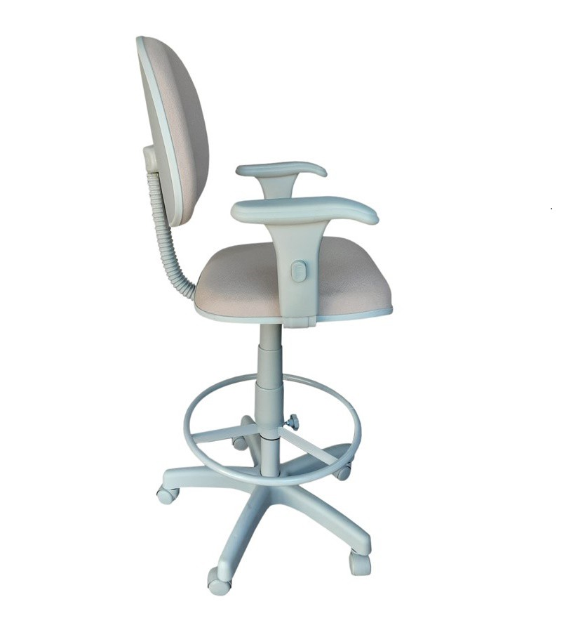 Cadeira Caixa Tradicional Executiva Com Braço Regulável Base Cinza