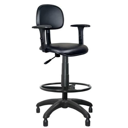 Cadeira Caixa Tradicional Secretária com Braço  - Tinay Móveis Ltda