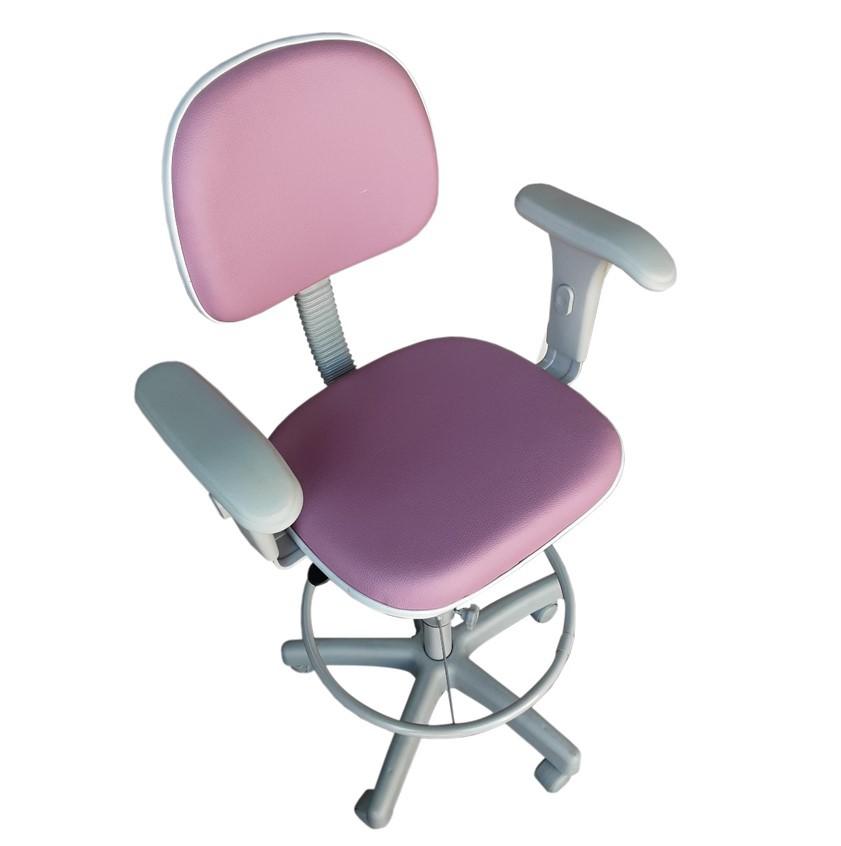 Cadeira Caixa Tradicional Secretária com Braço Base Cinza  - Tinay Móveis Ltda