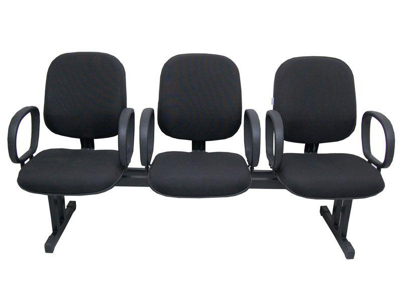 Cadeira de Espera 3 Lugares com Braço - Diretor
