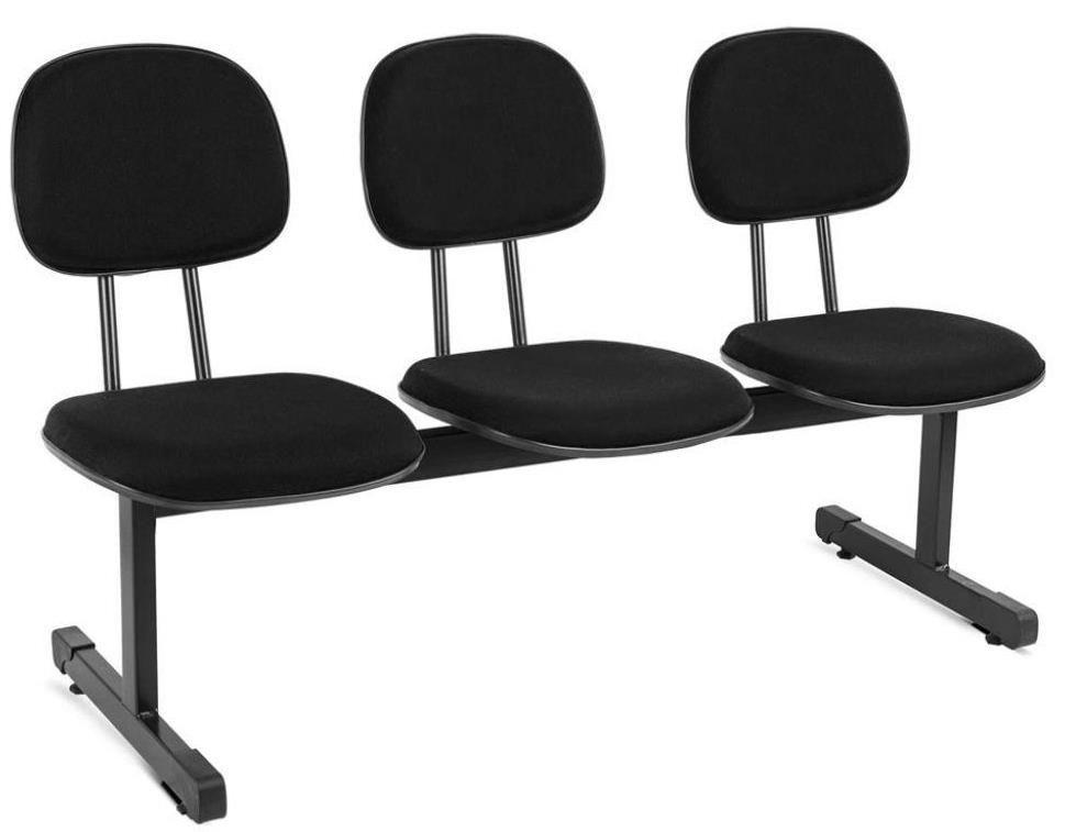 Cadeira de Espera 3 Lugares - Secretária  - Tinay Móveis Ltda