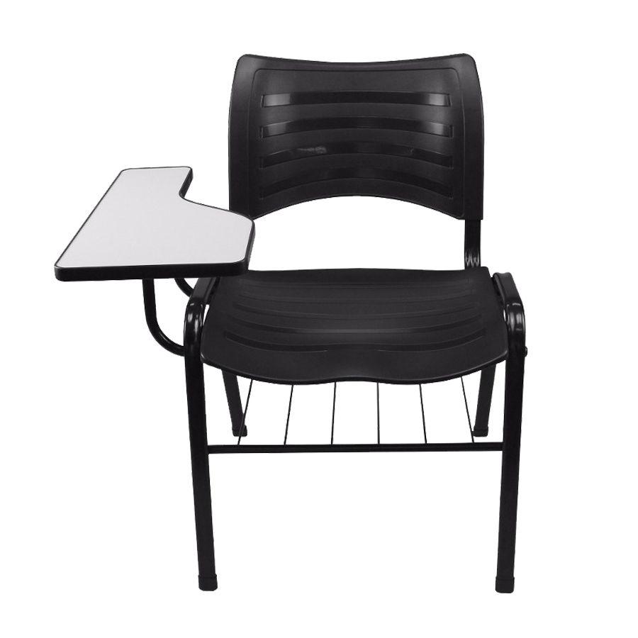 Cadeira de Estudo Univesitária Plástica Izo C/ Porta Livros