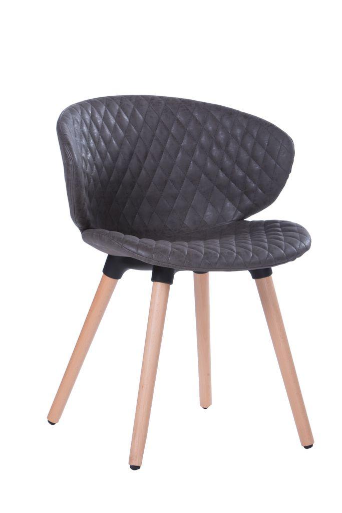 Cadeira Design em Courino com Costura Metalassê  - Tinay Móveis Ltda