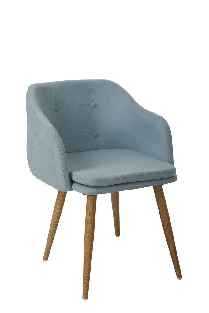 Cadeira Fixa Design Estofada Pés em Aço