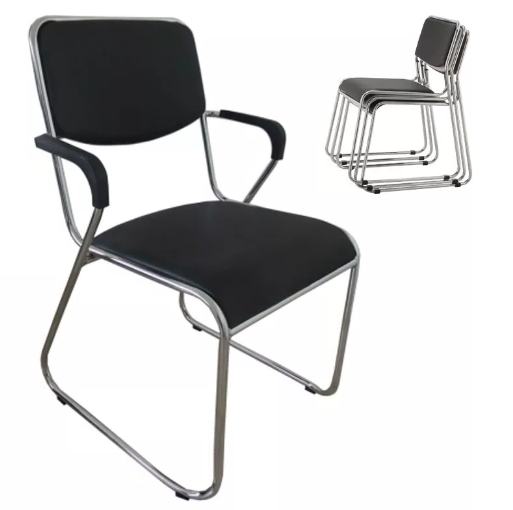 Cadeira Fixa Dakar com Braço  - Tinay Móveis Ltda