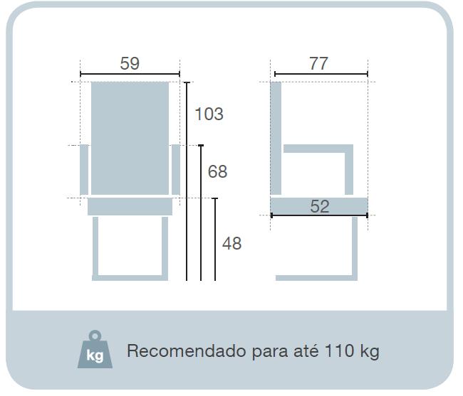 Cadeira Fixa Deli  - Tinay Móveis Ltda