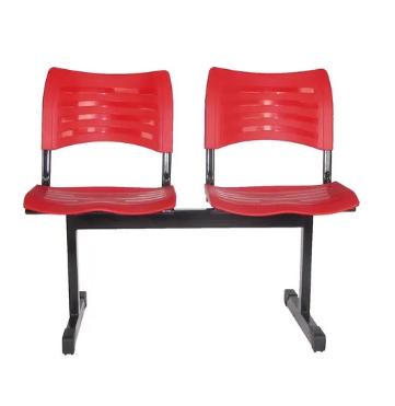 Cadeira Plastica de Espera 2 Lugares -Izo