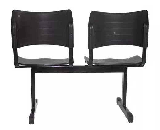 Cadeira Plastica de Espera 2 Lugares -Izo  - Tinay Móveis Ltda