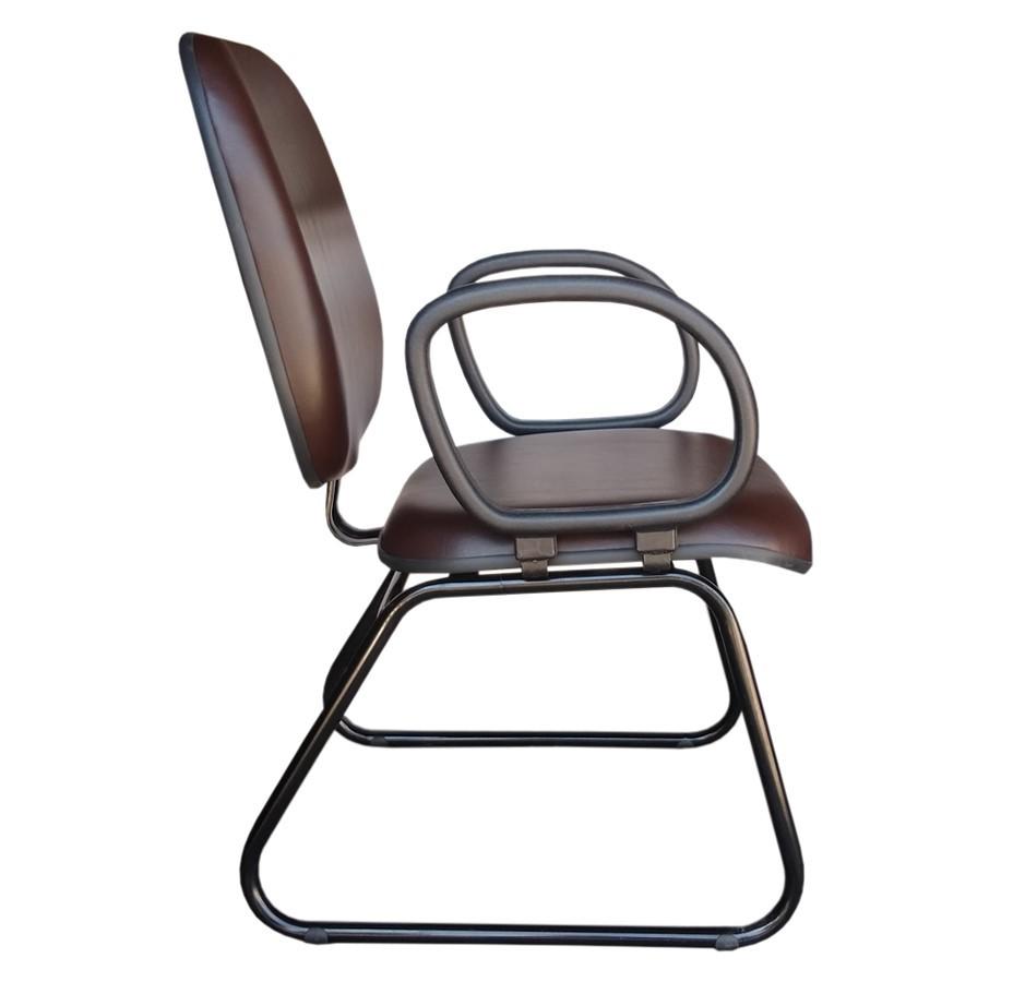 Cadeira Recepção Diretor Tradicional - Pés Ski  - Tinay Móveis Ltda