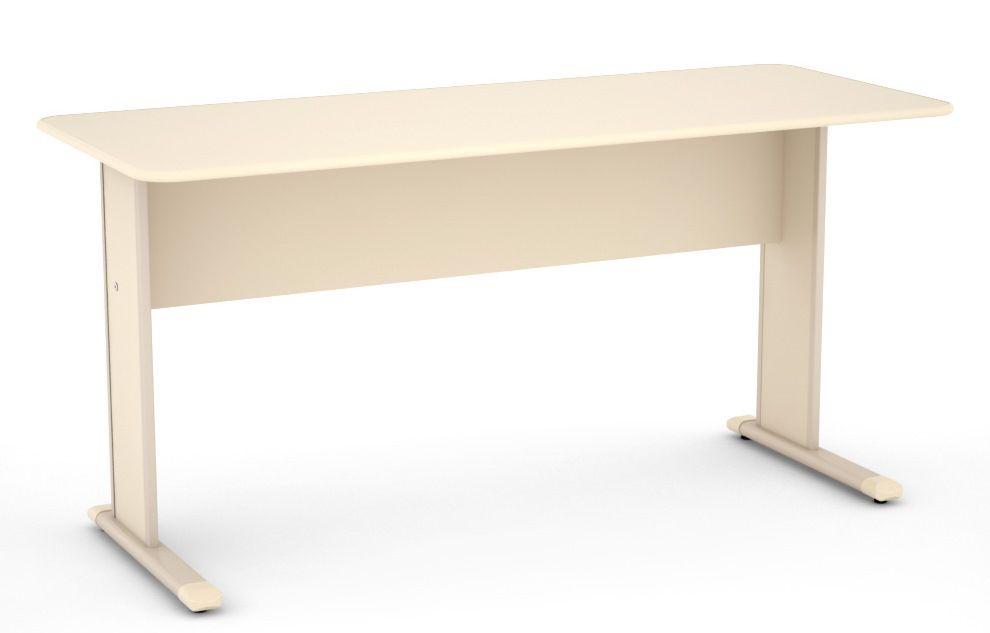 Mesa de Escritório Reta de 15 mm com Pés de Aço - Linha Light  - Tinay Móveis Ltda