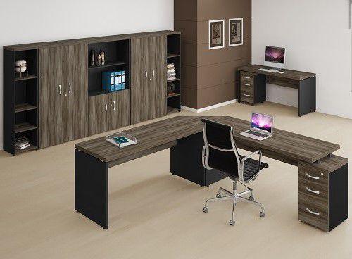 Mesa em L de 40 mm com Gaveteiro Embutido - Linha 40  - Tinay Móveis Ltda