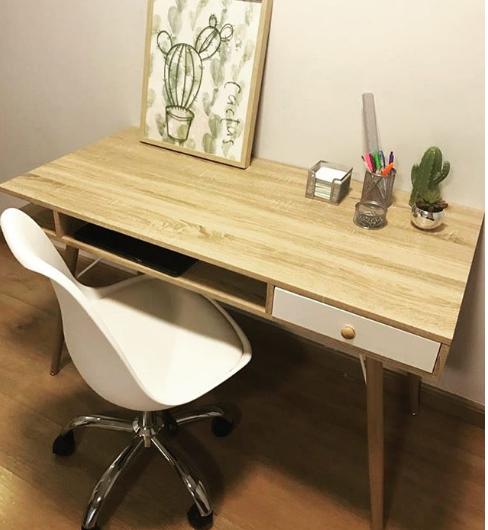 Mesa Escrivaninha em Madeira  - Tinay Móveis Ltda