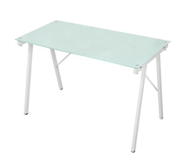 Mesa Escrivaninha Tampo de Vidro Geométrico  - Tinay Móveis Ltda