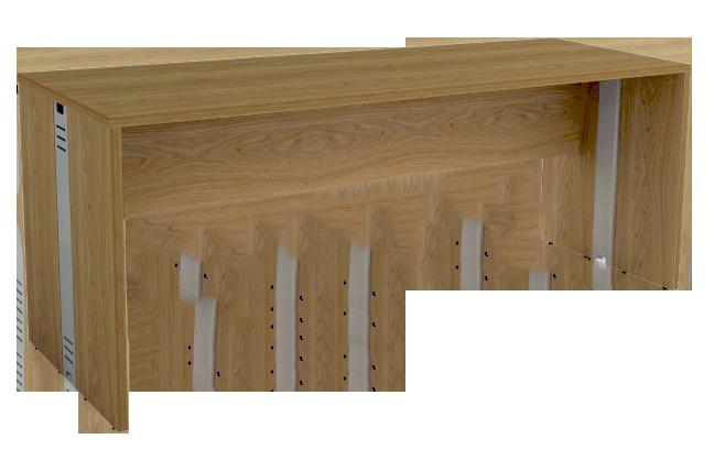Mesa Reta com Passa Fios de 25 mm 60 cm de Profundidade - Madeira - Attuale  - Tinay Móveis Ltda