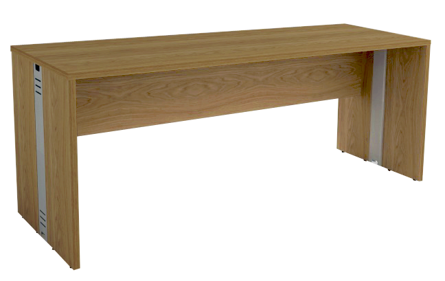 Mesa Reta com Passa Fios de 25 mm 68 cm de Profundidade - Madeira - Attuale  - Tinay Móveis Ltda
