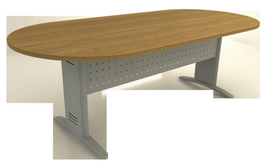 Mesa Reunião Oval de 25 mm - Saia de Aço - Impéria Premium  - Tinay Móveis Ltda