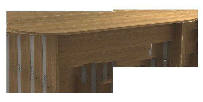 Mesa Reunião Oval de 25 mm - Saia de Madeira - Attuale  - Tinay Móveis Ltda