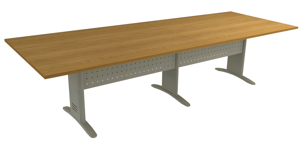 Mesa Reunião Retangular Bipartida de 25 mm - Saia de Aço - Impéria Premium  - Tinay Móveis Ltda