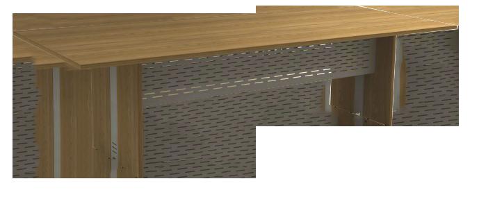 Mesa Reunião Retangular de 25 mm - Saia de Aço - Attuale  - Tinay Móveis Ltda
